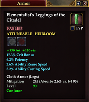 Elementalist's Leggings of the Citadel