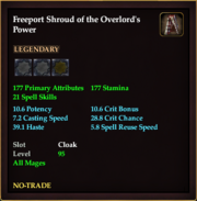 Freeport Shroud of the Overlord's Power