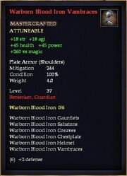 Warborn Blood Iron Vambraces