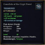 Gauntlets of the Crypt Fiend