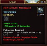 Holy Acolyte's Wristguard