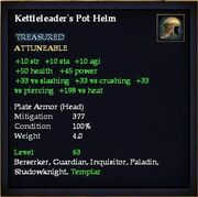 Kettleleader's Pot Helm