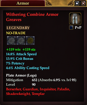 Withering Combine Armor Greaves