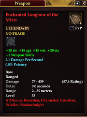 Enchanted Longbow of the Mists