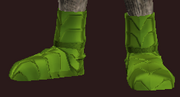 Green Galvanized Paper Plate Boots (Equipped)
