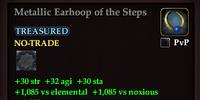 Metallic Earhoop of the Steps