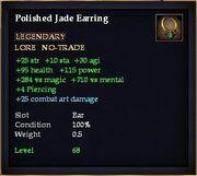 Polished Jade Earring