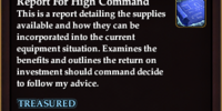 Report for High Command