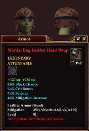 Martial Bog Leather Head Wrap