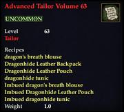 Advanced Tailor Volume 63