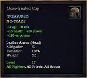 Ooze-treated Cap