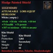 Sludge Painted Shield