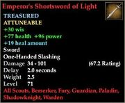 Emperor's Shortsword of Light