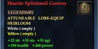 Hoarite Splintmail Greaves