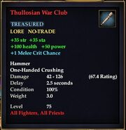 Thullosian War Club