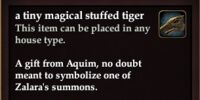 A tiny magical stuffed tiger