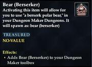 Bear (Berserker)