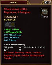 Chain Gloves of the Ragebourne Champion