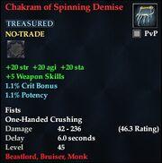 Chakram of Spinning Demise
