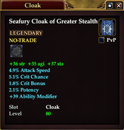 Seafury Cloak of Greater Stealth