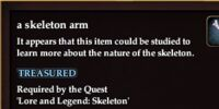 A skeleton arm
