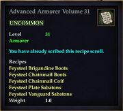 Advanced Armorer Volume 31