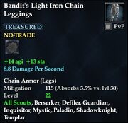 Bandit's Light Iron Chain Leggings