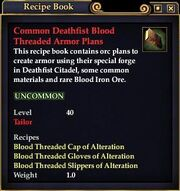 Common Deathfist Blood Threaded Armor Plans
