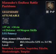 Marauder's Endless Battle Pauldrons