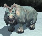 A brontotherium bull