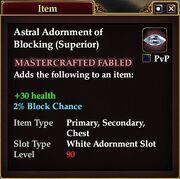 Astral Adornment of Blocking (Superior)