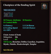 Chestpiece of the Fending Spirit