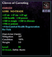 Gloves of Garroting
