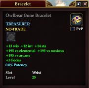 Owlbear Bone Bracelet