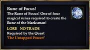 Rune of Focus!