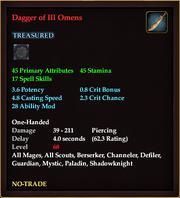 Dagger of Ill Omens
