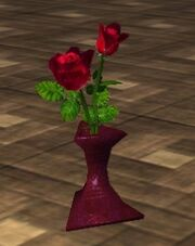 Red Roses in a Vase (Visible)