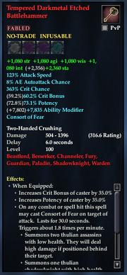 Tempered Darkmetal Etched Battlehammer
