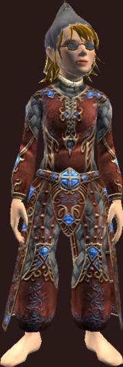 Vesspyr Scholar's Red Robe (Equipped)