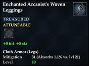Enchanted Arcanist's Woven Leggings