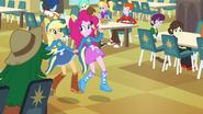 Applejack and Pinkie Pie holding hands EG