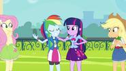 Rainbow Dash hugging Twilight EG