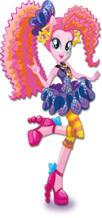 Pinkie Pie Rainbow Rocks character bio art 2