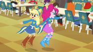 Applejack and Pinkie Pie pointing EG