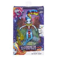 Legend of Everfree Crystal Wings Rainbow Dash doll packaging