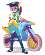 Friendship Games Rainbow Dash Sporty Style artwork