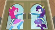 Pinkie Pie and Rarity opening the doors EG