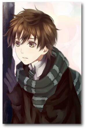 Anime boy with brown hair by ellygraden90-d6mgbag