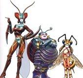 Las hermanas Magus. De izquierda a derecha: Sandy, Cindy, Mindy