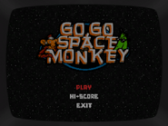 Go Go Space Monkey Menú